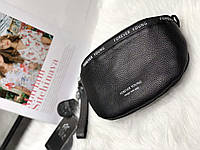 Поясная кожаная  сумка - бананка. Сумка на пояс из натуральной кожи. Женская сумка на пояс., фото 1