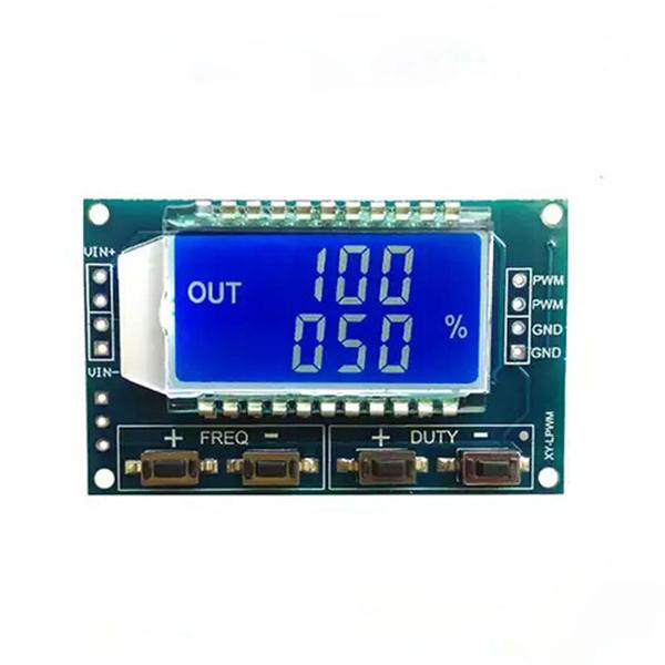 Трехканальный модуль генератора сигналов с ШИМ с отображением параметров на LCD дисплее