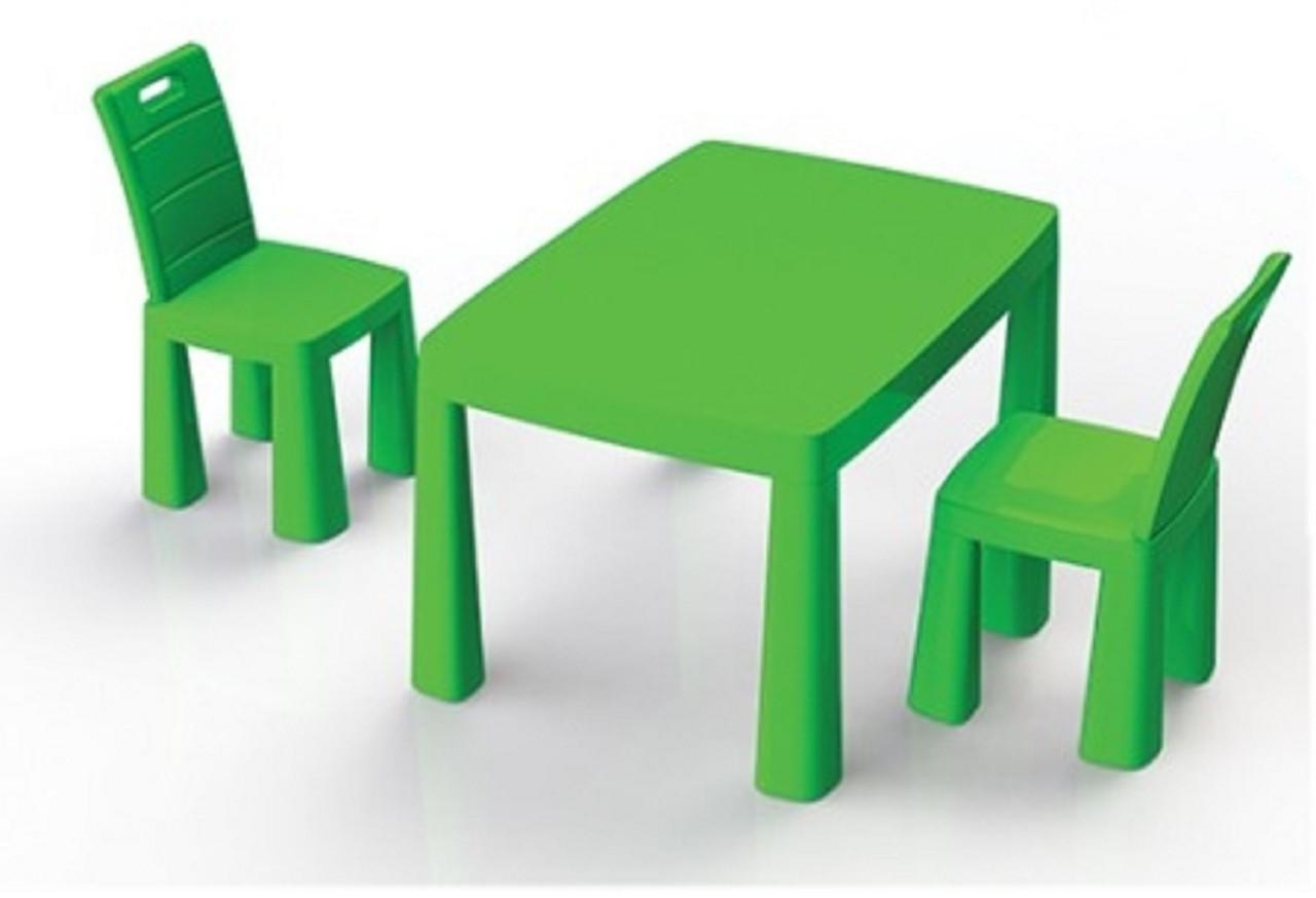 Набор столик + аэрохоккей и два стула (04580/21) Зеленый