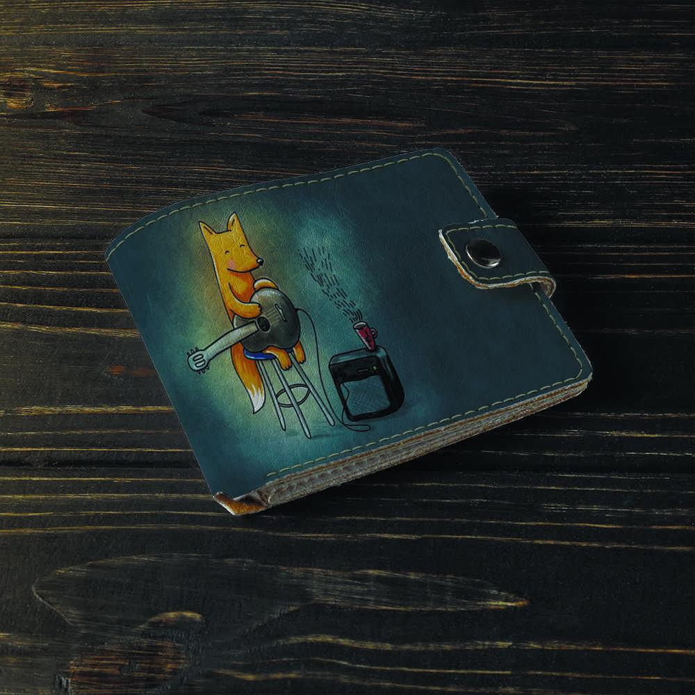 Гаманець v.1.0. Fisher Gifts 180 Лисичка з гітарою (еко-шкіра)