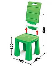 Набор столик + аэрохоккей и два стула (04580/21) Зеленый, фото 2