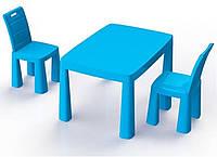 Набор столик + аэрохоккей и два стула (04580/11) Голубой