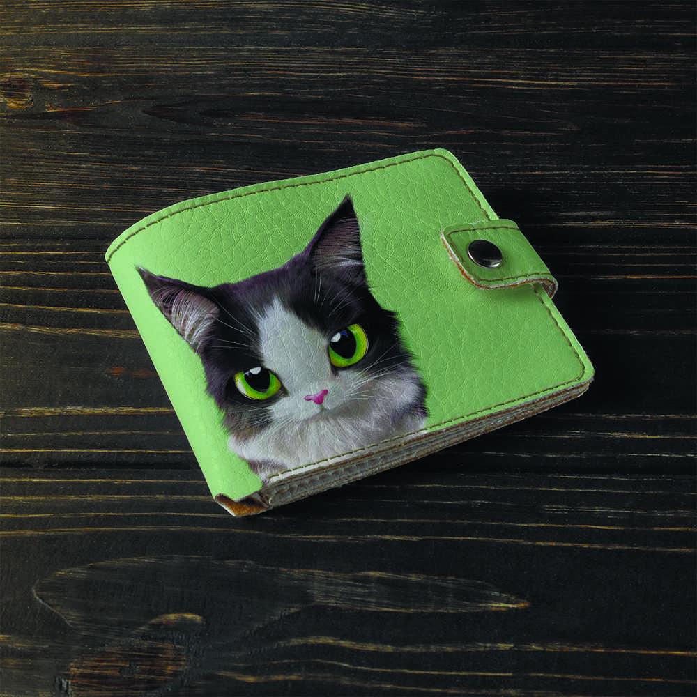 Кошелёк 1.0 Fisher Gifts 783 Кот с белой мордочкой и черными ушками (эко-кожа)