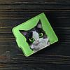 Кошелёк 1.0 Fisher Gifts 783 Кот с белой мордочкой и черными ушками (эко-кожа), фото 6