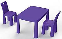 Набор столик + аэрохоккей и два стула (04580/41) Фиолетовый