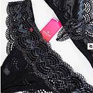 Комплект нижнего белья черно-голубой Obsessive 869-SET-1, фото 4