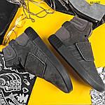 Зимние кроссовки Adidas Tubular Invader Strap (серые), фото 5