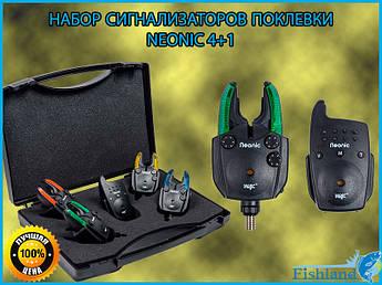 Влагозащищенный Набор сигнализаторов поклевки Neonic WC330-4+1