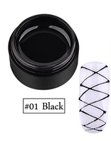 Гель-Паутинка черный для дизайна ногтей Coscelia №1, 5мл