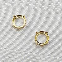 Оправа для риволи 14 мм, Германия, цвет золото