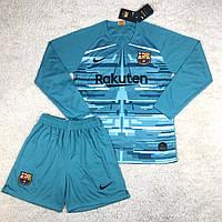 Футбольная форма Барселона вратарская голубая (сезон 2019-2020)