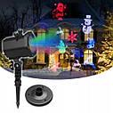 Рождественский лазерный проектор 12 световых эффектов, фото 5
