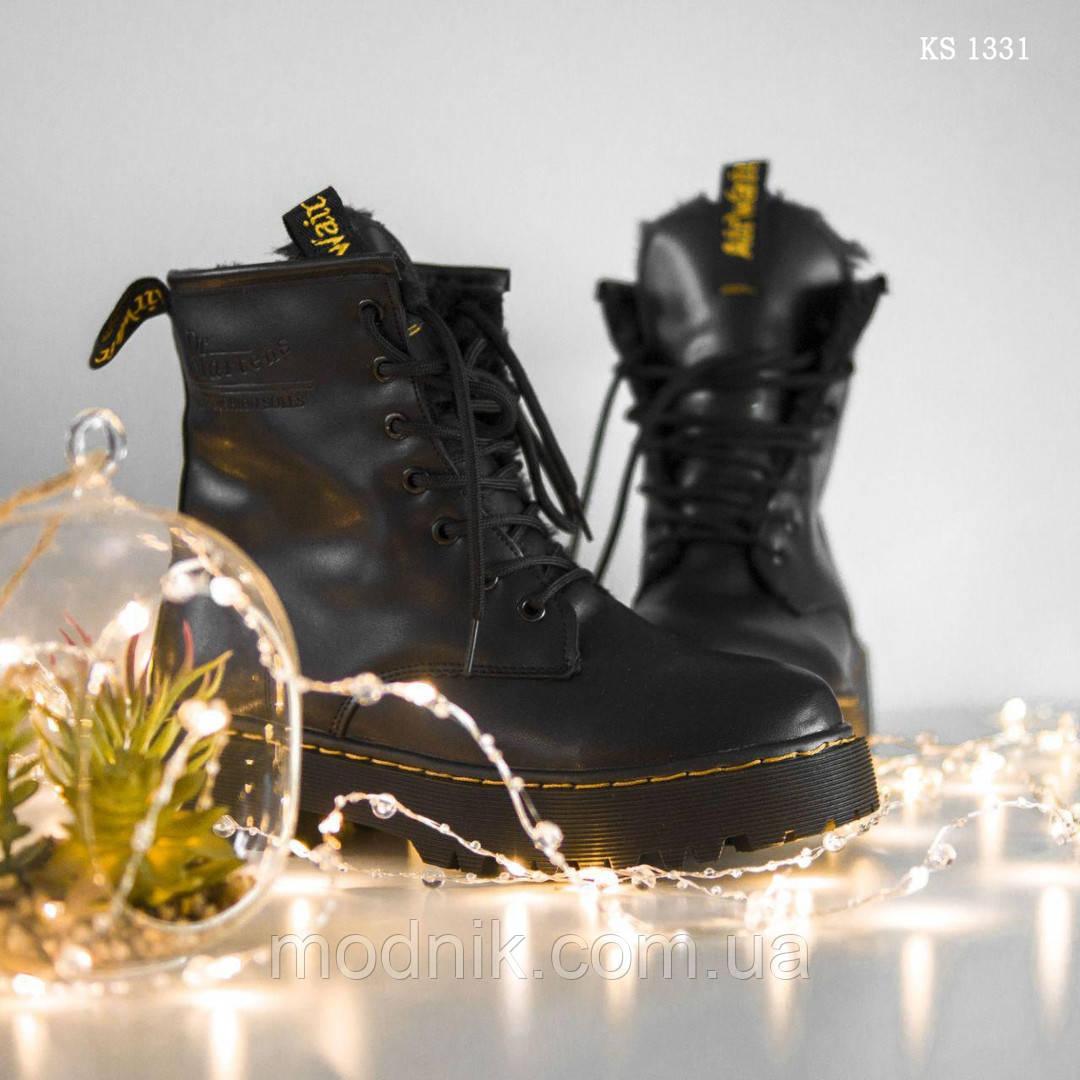 Женские зимние ботинки Dr.Martens Jadon Classic (черные)