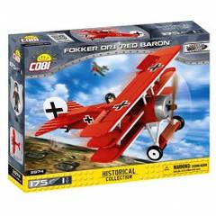Конструктор Cobi Самолет 'Fokker Dr. I Красный барон'  175 деталей Cobi-2974