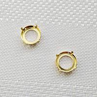 Оправа для риволи 16 мм, Германия, цвет золото