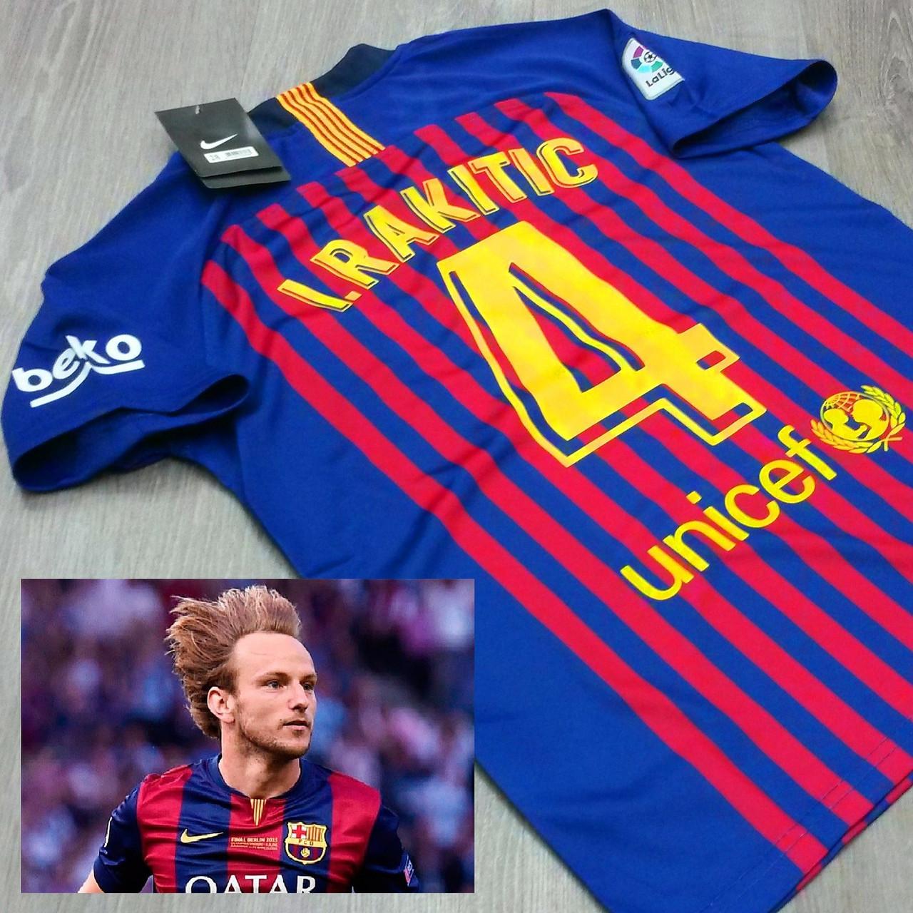 Детская футбольная форма Барселона  (№4 Иван Ракитич)