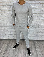Мужской теплый спортивный костюм-двойка (Серый), фото 1