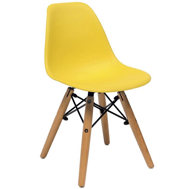 """Детский пластиковый стул с деревянными ножками """"Kids Nik"""" (Ник)"""