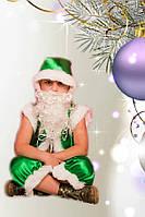 Детский новогодний костюм Гномик зеленый