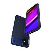 Накладка для iPhone 11 Spigen Hybrid NX Navy Blue