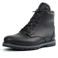 Ботинки зимние на овчине кожа черные утепленные мужская обувь Rosso Avangard Whisper Wool Led, фото 1