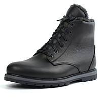 Ботинки зимние на овчине кожа черные утепленные мужская обувь Rosso Avangard Whisper Wool Led