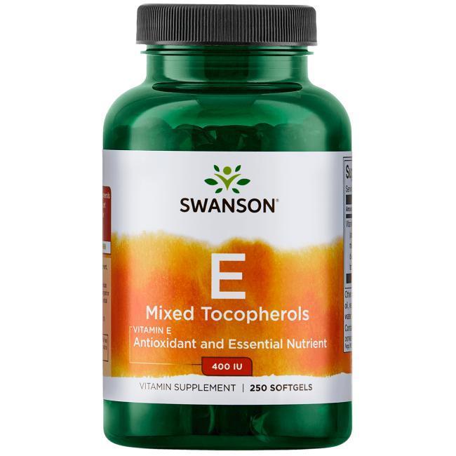 Swanson Premium Vitamin E Mixed Tocopherols  Витамин Е смесь токоферолов 400 ед  (268 mg) 250 ЖК
