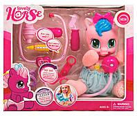"""Мягкая игрушка """"Пони"""" музыкальная My Little Pony с набором доктора 1213"""