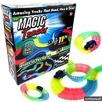 Светящаяся дорога Magic Tracks Меджик трек 2 машинки джип внедорожник 220 деталей