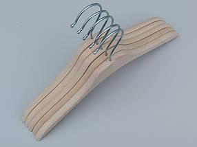 Плечики вешалки тремпеля деревянные ECO светлые, длина 32,5 см, в упаковке 5 штук, фото 3