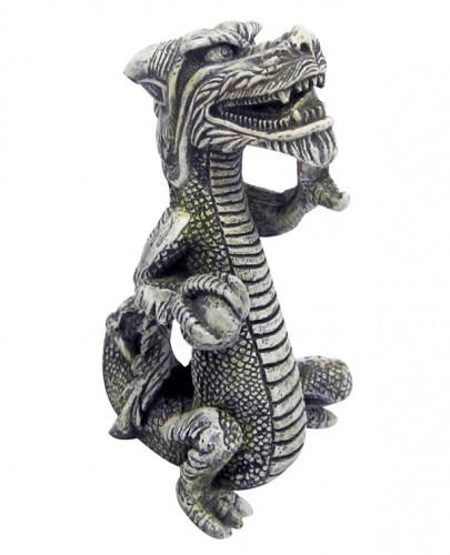 Декорация керамическая Китайский дракон, вертикальный, S