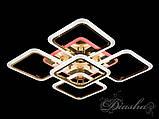 Світлодіодна стельова люстра A8060/4+1G LED 3color dimmer, фото 4