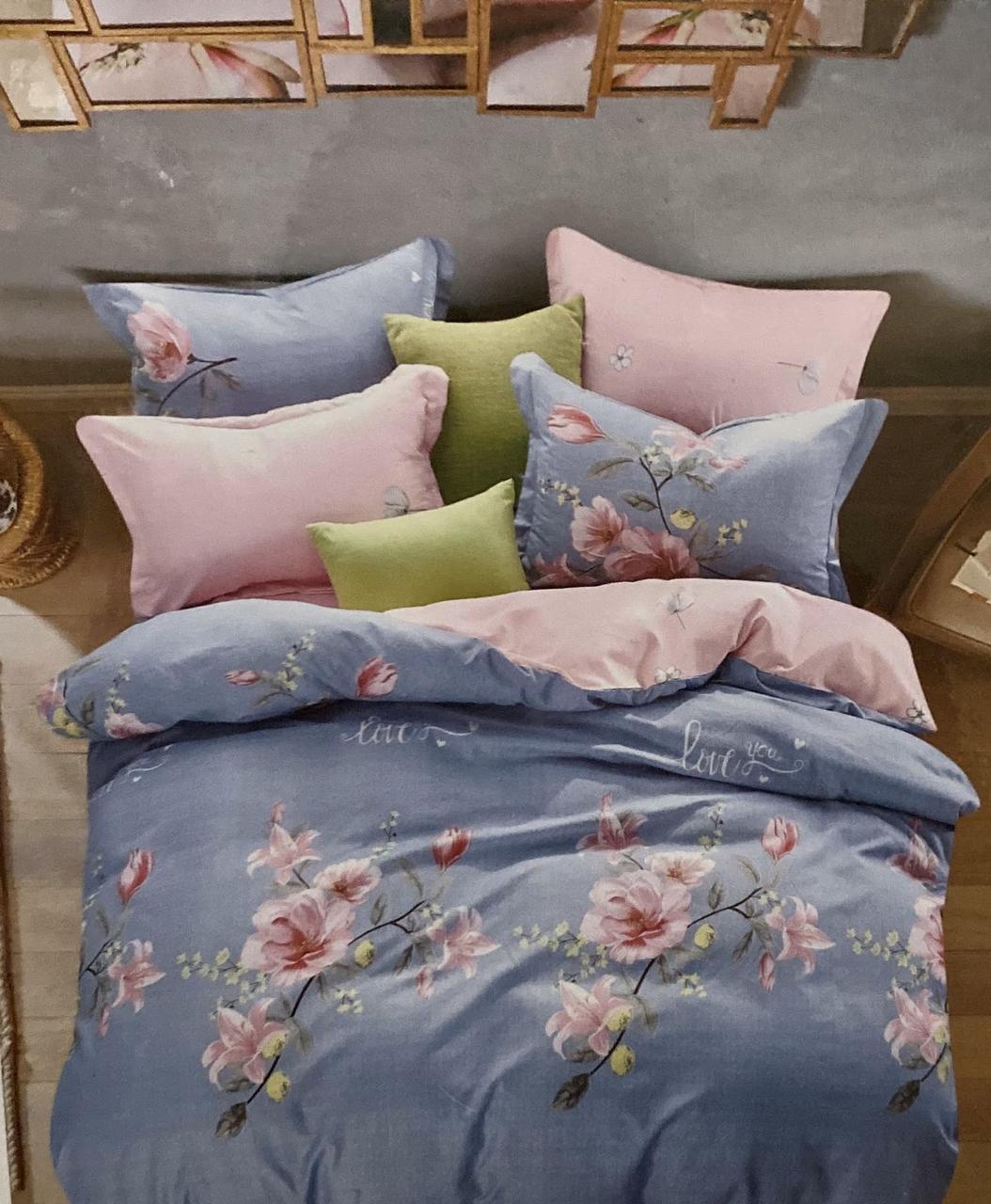 Комплект постельное белье, 100% хлопок, одноцветное, 200×230 евро