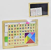 Доска детская магнитная с алфавитом двухсторонняя