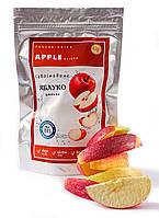 Яблоки дольками красные 15г сублимированные, натуральный фрукт от украинского производителя