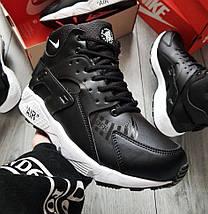 Зимние мужские кроссовки Nike Air Huarache Winter Black/White с мехом (2 ЦВЕТА), фото 2