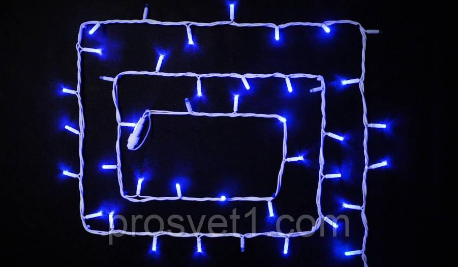 Гирлянда уличная DELUX STRING 100 LED нитка 10m (2x5m) 20 flash синий/белый IP44 EN