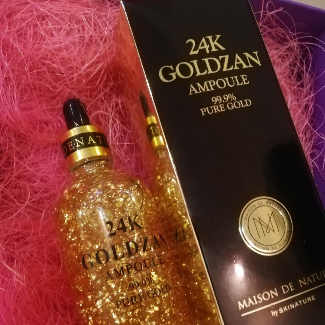 Сыворотка для лица 24K Gold Ampoule Goldzan