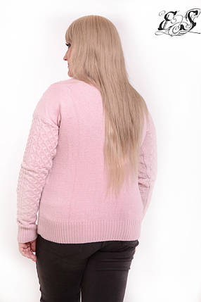 Женский свитер батал из кашемира с узорами 52-58 р, фото 2