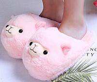 Тапочки-игрушки Ламы розовые, размер 35-38
