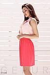 Короткая юбка из плиссированной ткани коралловая, фото 2