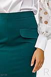 Приталенная юбка-миди зеленая, фото 3