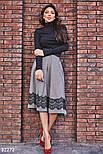 Расклешенная теплая юбка-миди, фото 2