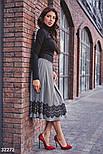 Расклешенная теплая юбка-миди, фото 3