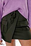 Короткая юбка-мини на фиксируемый запах, фото 3