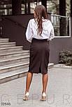 Строгая юбка-миди с разрезом-шлицей, фото 3