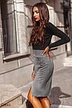Замшевая короткая юбка прямого кроя, фото 2