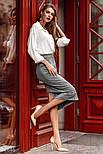 Замшевая юбка-миди прямого кроя, фото 2
