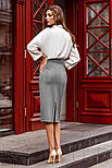 Замшевая юбка-миди прямого кроя, фото 3