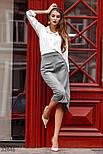 Замшевая юбка-миди прямого кроя, фото 4